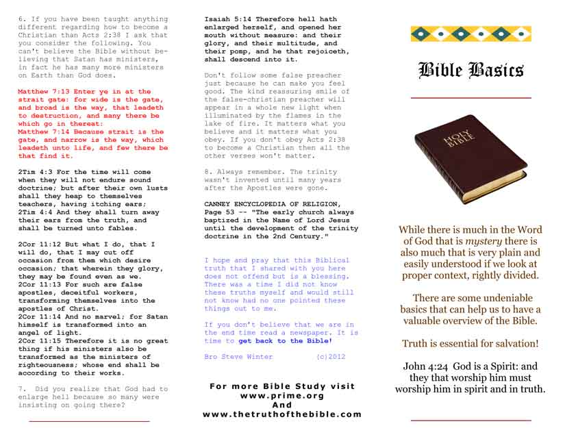 graphic about Printable Gospel Tract named Bible Tracts via Bro Steve Winter season
